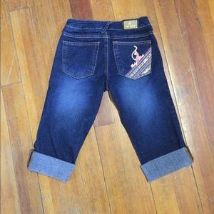Baby Phat cuffed Capri pants Size 1 #71